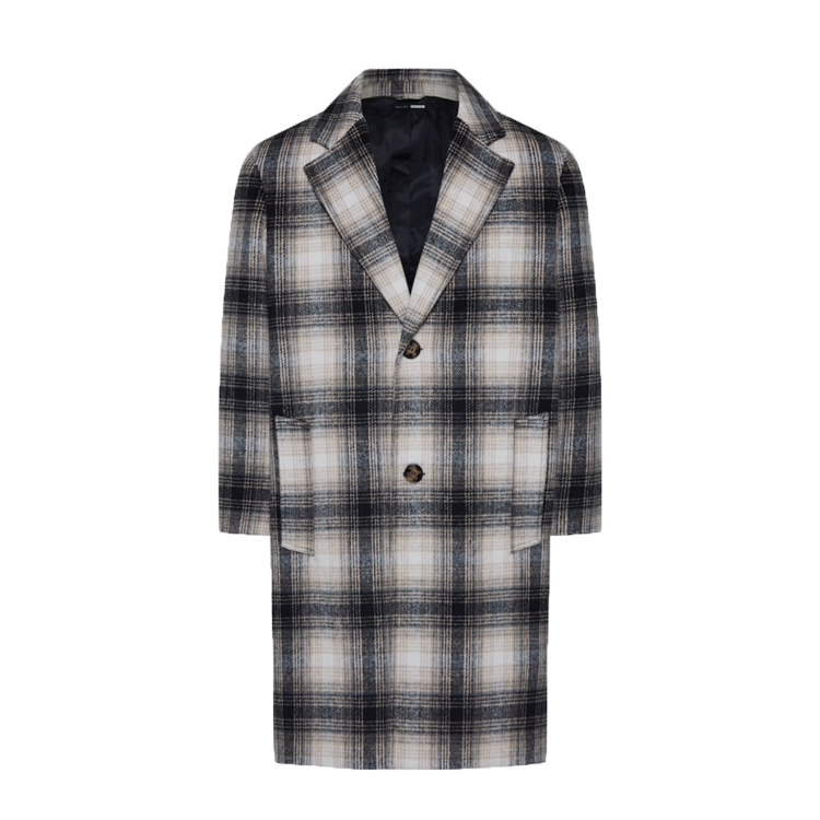 magic fox wearing checked coat